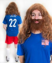 Alexi Lalas USA Funny Football Fancy Dress Costume